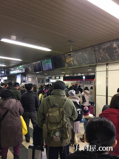 札幌駅は大混雑